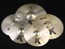 "Zildjian K Cymbal Box Set K0800 14"" Hi Hats 20"" Ride 16"" 18"" Crash Cymbals"