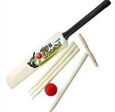 Kids Junior Cricket Set Bat Size 5 For Children with a Ball, Bails and Stumps UK