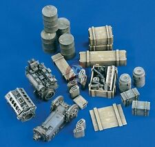 Verlinden 1/35 German Military Cargo WWII (Drums, Engines, Crates, etc.) 1693