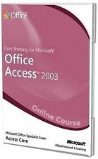 Core Training for Access 2003 Official Online Course, New