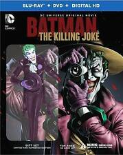 NEW DC COMICS BATMAN THE KILLING JOKE BLU RAY DVD DELUXE EDITION + JOKER FIGURE