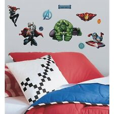 New AVENGERS ASSEMBLE Marvel Superheroes 28 Wall Decals Boys Room Decor Stickers