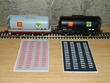 Alternative Wagon numbers Decals for Bachmann BP Shell tank TTA  OO Gauge