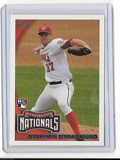 2010 TOPPS STEPHEN STRASBURG ROOKIE CARD #661 WASHINGTON NATIONALS