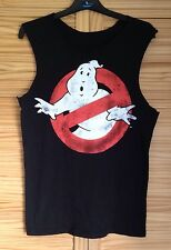 BLACK GHOSTBUSTERS GRUNGE HIPSTER IBIZA FESTIVAL T SHIRT VEST TOP UK S
