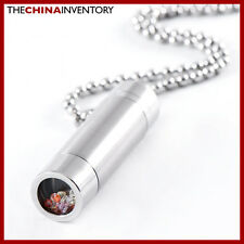 STAINLESS STEEL MINI KALEIDOSCOPE TUBE PENDANT P0201C