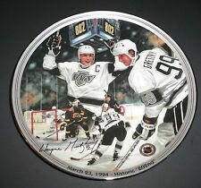 "Great Moments in Hockey Gretzky Historic 802nd Collectors 8"" Plate #10762A COA"