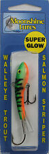 "MOONSHINE LURES SHIVER MINNOW SIZE #2 2-3/4"" 1/2 oz - GLOW PERCH"