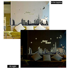 Romantic Glow in Dark Wallpaper Silhouette Mural Wall Sticker Home Decor Decal