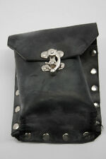 Steam Punk Pouch Holster Black Leather Accessory NEW