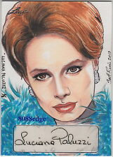 2013 POP CENTURY SCOTT RORIE SKETCH AUTO: LUCIANA PALUZZI #1/1 OF ONE AUTOGRAPH