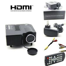 Black UC28 Portable LED Projector Cinema Home Theater PC Laptop HDMI/VGA/USB/SD