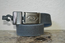 New Gray Halo 3 belt Canvas Adjustable One Size Cotton Distressed Look