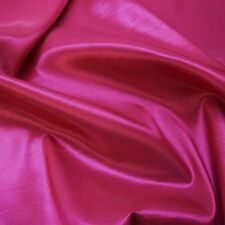 "Plain Cerise Pink Silky Taffeta Fabric Weddings 60"" P/M"