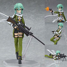 "5.9"" Anime Sword Art Online II Asada Shino Sinon Figma PVC Figure Toy With Box"
