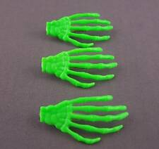 Green set pack of 3 skeleton hand bones hair clips alligator claw clamp