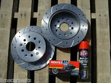 Ford Fiesta mk7 09-12 Front Drilled & Grooved Brake Discs & Mintex Pads