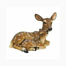 A MOTHER DEER'S LOVE OF FAWN BABY YARD GARDEN STATUE DECOR NEW