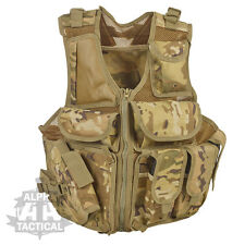 MOLLE TACTICAL CROSS DRAW PISTOL SWAT ASSAULT VEST MTP MULTICAM PALS AIRSOFT