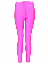 Womens Ladies New High Waist Wet Look Shiny Tight Disco Pants/Leggings 6-14