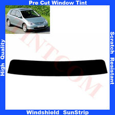 Pre Cut Window Tint Sunstrip for Honda Civic 5D Hatchback 2001-2004 Any Shade