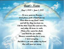 If Roses Grow in Heaven Personalized Poem Gift For That Special Aunt