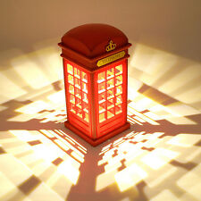 Retro Antique London Telephone Booth LED Desk Night Light Lamp USB Charging Gift