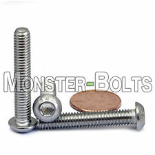 6mm x 1.00 x 35mm - Qty 10 - A2 Stainless Steel BUTTON HEAD Screws  M6-1.0 x 35