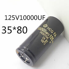 5PC Electrolytic Capacitor 125V 10000uF 35x80mm can replace 120V 100V Audio #J05