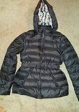 Burberry Children Catherine Bow Down Puffer Jacket Size 14Y Navy