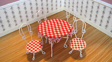 Dollhouse Miniature Furniture  ~ Patio Table & Chairs ~ Fairy Garden ~