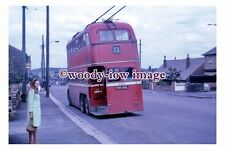 gw0438 - Huddersfield Trolleybus no 640 at Outlane in 1968 - photograph