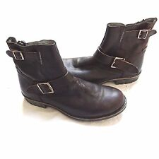 NEW STEVEN MADDEN DENTONN ZIP LEATHER RIDER MOTORCYCLE RIDING BIKER BOOTS 10