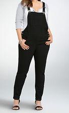 NWT Torrid Black 16 1x Denim Overalls Skinny Leg Stretch Plus Size Sexy Jegging