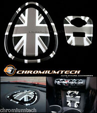 MINI Cooper/S/ONE F55 F56 F57 BLACK Union Jack Centre Dashboard Cover USB Panel