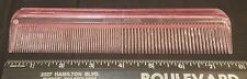 Vintage COLUMBIA STANDEE Plastic Pink Hair Comb