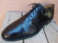 """JOHNSTON MURPHY """"CELLINI"""" Mens Black Dress Shoe Classic Cap Toe Oxford Size 9M"""