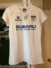 DC Shoes Women's VINTAGE SUBARU RALLY RACING TEE SHIRT T-SHIRT BLOCK PASTRANA