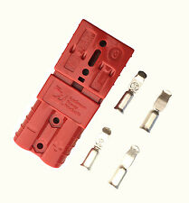PAIR ANDERSON SB50-600V Plug-MEDIUM CABLE TERMINAL BATTERY POWER CONNECTOR-RED