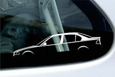 2x car silhouette stickers - for BMW E46 3-series saloon 320i, 320d, 328i