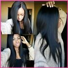 "Sexy Queen Italy Yaki Straight 100% Remy Human Hair 12""-24"" Lace Front Wigs"