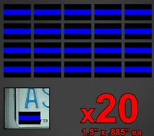 20 THIN BLUE LINE Flag Decal Vinyl Helmet License Plate Sticker Decal FOP 911