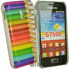 Cover Per Samsung Galaxy Ace Plus S7500 Matite Colorate + Pellicola Protettiva