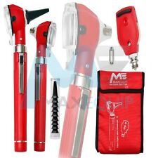 F.O Otoscope Ophthalmoscope Opthalmoscope Examination LED Diagnostic ENT RED SET