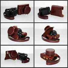 coffee Leather case bag grip  for Canon Powershot G1X Mark II camera G1XII brown