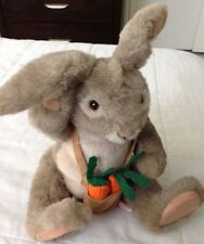 """Uncle Jaques Rabbit Plush 18"""" Vintage Dakin 1983 Jointed Easter Bunny Animal"""