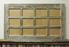 NEW BARN WOOD RECLAIMED MULTI 12 PHOTO PICTURE FRAME COLLAGE 4X6 RUSTIC DECOR
