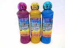 Bingo Daubers Markers Glitter Ink Set Of 3 Purple Gold Blue