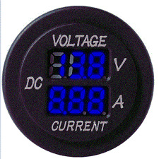 Vw T25  Camper Van Blue Voltmeter Voltage Amp Meter Gauge Leisure Battery 6 30 V