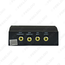 Car 1in3 Video Switcher(1/3Way) For Front Camera/Rear Camera/Monitor Video